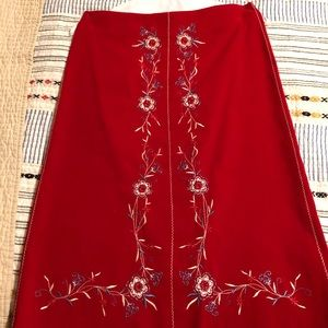 Pretty embroidered skirt
